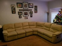brown fabric sectional sofa with throw pillows Windsor, 17366