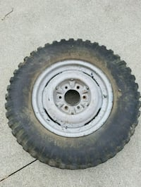 WW2 Jeep rims and tires  Whitehouse