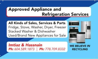 Approved appliances and refrigeration service