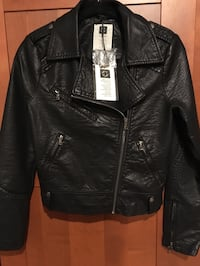 Black faux Leather Biker Jacket  Alexandria, 22315