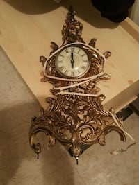 Old clock gold plated