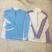 Two excellent condition sports shirts ladies size large n extra large both for 12 Calgary, T3K 6E8