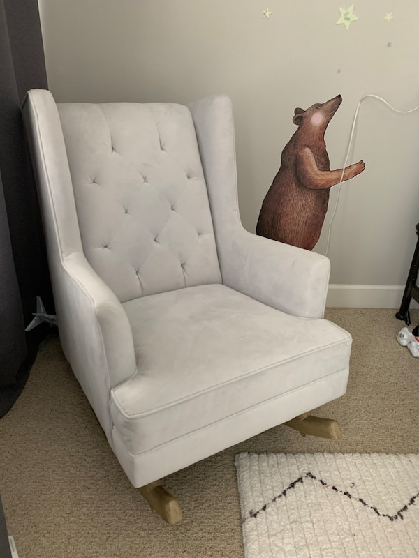 Peachy Potterybarn Wingback Rocking Chair Customarchery Wood Chair Design Ideas Customarcherynet