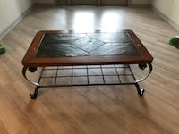Rectangular brown wooden coffee table King Of Prussia, 19406