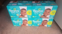 4 Brand new Pampers baby dry size 5 132 count  Mississauga