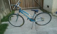 blue and gray hardtail mountain bike 2309 mi