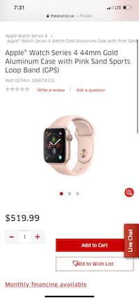 Apple iwatch series 4 44mm rose gold