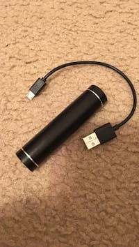 black power bank with connector
