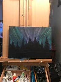 Northern lights painting Port Orchard, 98366