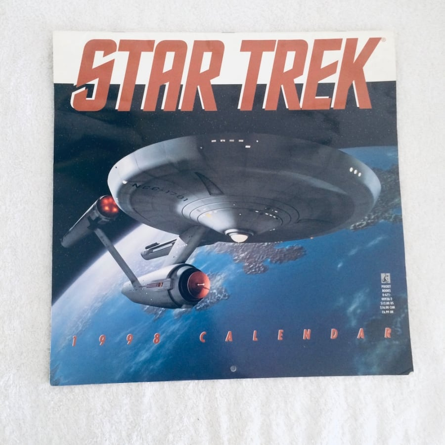 STAR TREK THE ORIGINAL SERIES 1998 CALENDAR 4b696cbe-3386-4b59-8957-f92c28347287