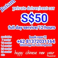 Batam private driver Singapore, 179037