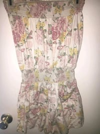 women's white and pink floral sleeveless dress Houston, 77060