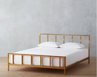 New Gold queen cb2 bed