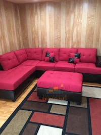red and black sectional couch Silver Spring, 20902