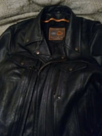 Biker vented heavy leather jacket LG Calgary, T2A 3E2