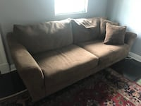 Brown fabric 2-seat sofa New Orleans, 70130