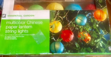 2 New Multicolor Chinese paper lantern string lights