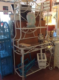 White wrought iron bakers rack  Ormond Beach, 32174