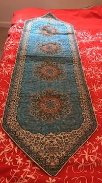 blue and brown floral area rug Vienna, 22180