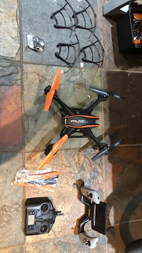 black and red quadcopter drone Austin, 78704