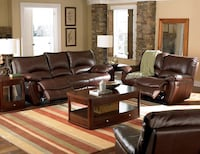 "Coco Brown ""Top Grain Leather"" 2pc Power Reclining Sofa and Love Seat Set Charlotte, 28216"