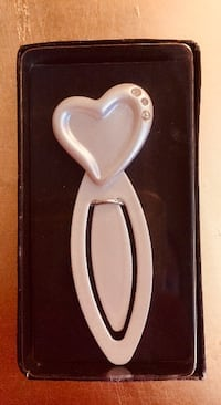 BRAND NEW Brushed Nickel-Look Bookmark with CRYSTAL Embellishments • $5 FIRM! Winnipeg