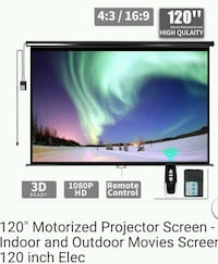 Brand new 120 inch motorized  projector  screen