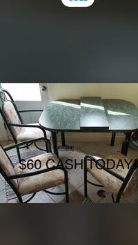 TABLE W/6 CHAIRS...$ AND CARRY TODAY ! Toronto, M9C 4M7