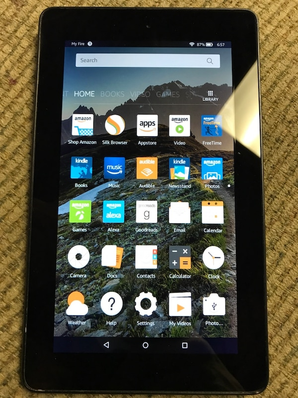 "7"" amazon kindle fire 5th gen - model sv98ln"