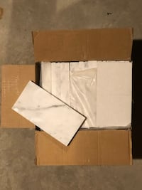 6 Boxes of Polished White Carrara Marble Tile Andover, 01810
