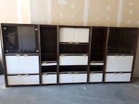 white and brown wooden TV hutch Ottawa, K1Z 5T6