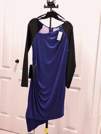women's blue and black long sleeve dress Nanaimo, V9T 5Z6
