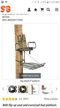 XL hang on stand 20 ft climbing sticks Fenton, 48430