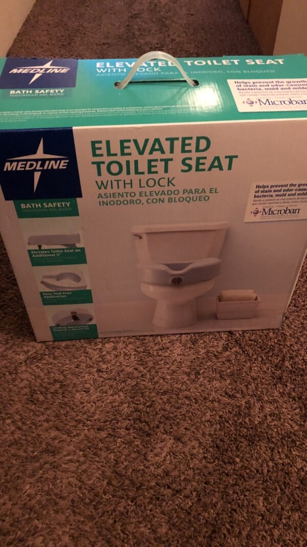Collections Of Medline Raised Toilet Seat With Lock