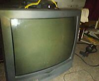 black and gray CRT TV Gray, 70359