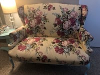 White, red, and green floral loveseat Gilbert, 85297