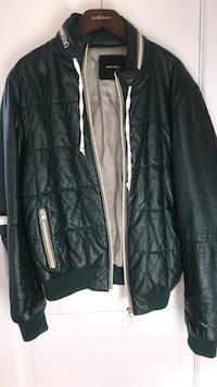 Leather jacket green Antony morato