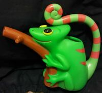 green and red chameleon plastic toy