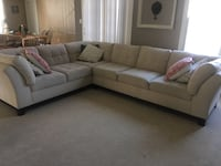Large 2 piece cream sectional paid $1500 sell for $600 OBO Brunswick, 21716