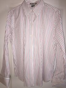 EUC Lauren by Ralph Lauren white with black and red stripes sz XL