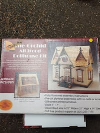the orchid all wood dollhouse kit box Port Orchard, 98367