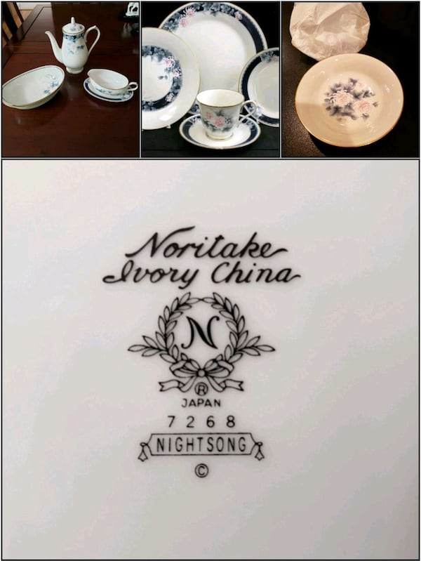Vintage Noritaki Ivory China 7268 Nightsong 0