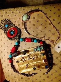 blue, red, and green beaded necklace Calgary, T3E 2L6