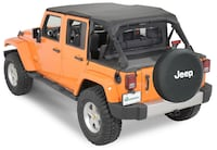 New QuadraTop Bimini Top Plus, Clearview Windstopper & Tonno Cover Combo in Black Diamond for 07-18 Jeep Wrangler Unlimited JK 4 Door