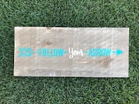 Follow Your Arrow Barnwood Sign Airdrie, T4A 0H2