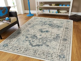 NEW rug 5x8 blue traditional area rugs