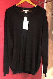 Cashmere Men's Black 2XL Tall Sweater Brand New