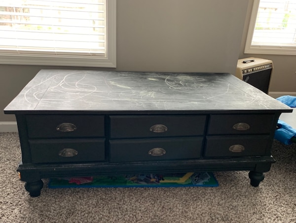 Used Black Chalk Paint Coffee Table For In Knoxville