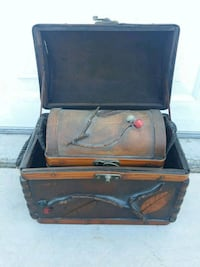 """Vintage wooden trunk within a trunk 9"""" high Las Vegas, 89147"""