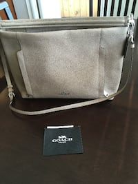black and gray leather crossbody bag VANCOUVER